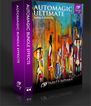 AutoMagic Ultimate Bundle Gen2 - Photo Realistic Art Graphic Effects Software 2D Sofware and Utilities AUTOFXPHOTO