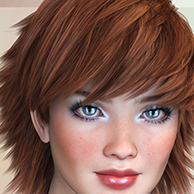 Biscuits Aloe Hair for Poser image 10