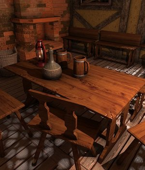 Medieval Interiors - Extended License 3D Game Models : OBJ : FBX 3D Models Extended Licenses dexsoft-games