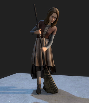 Medieval Girl - Extended License 3D Game Models : OBJ : FBX 3D Models Extended Licenses dexsoft-games