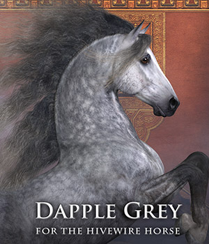 CWRW Dapple Grey for the HiveWire Horse 3D Figure Assets cwrw