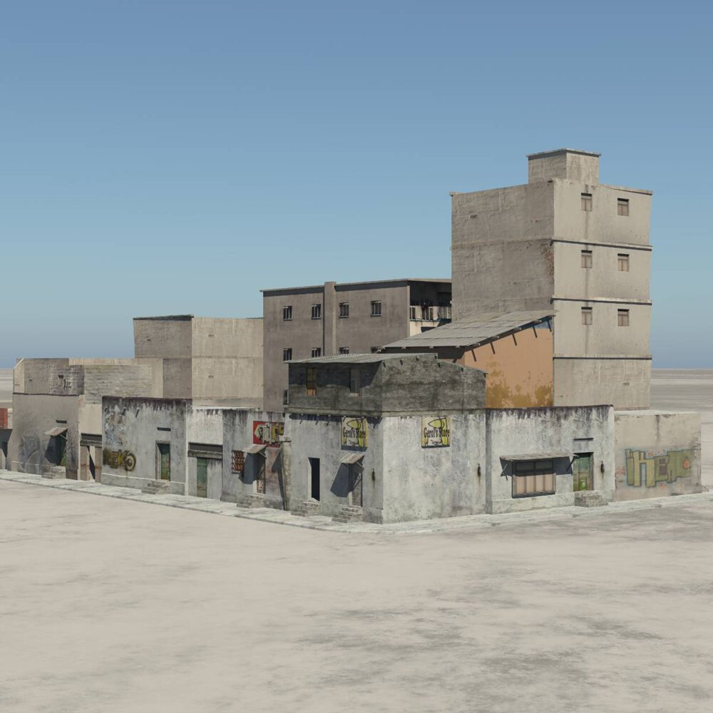 Shanty Town Buildings 2: City Block A - for Vue