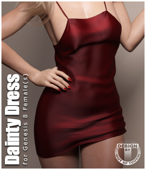 Dainty Dress for Genesis 8 Females 3D Figure Assets outoftouch