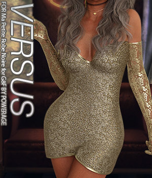 VERSUS - Ma Petite Robe Noire for G8F 3D Figure Assets Anagord