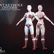 Cat Keyhole Lingerie Material Add-on for G8F image 1