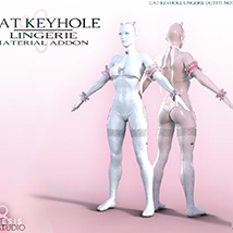 Cat Keyhole Lingerie Material Add-on for G8F image 2