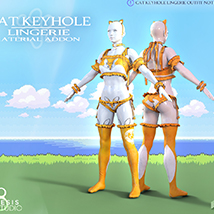 Cat Keyhole Lingerie Material Add-on for G8F image 3