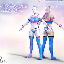 Cat Keyhole Lingerie Material Add-on for G8F image 4