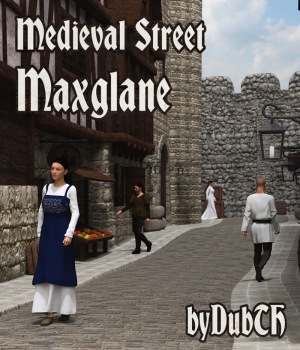 Medieval Street Maxglane for Iray 3D Models DubTH