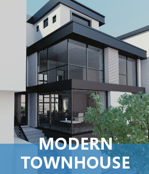 Modern Townhouse 3D Models TruForm