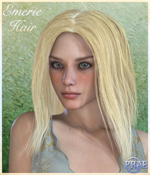 Prae-Emerie Hair For V4 Poser 3D Figure Assets prae