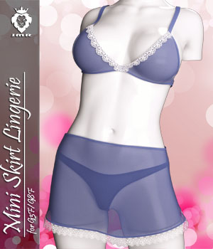 JMR Mini Skirt Lingerie for G3F and G8F 3D Figure Assets JaMaRe