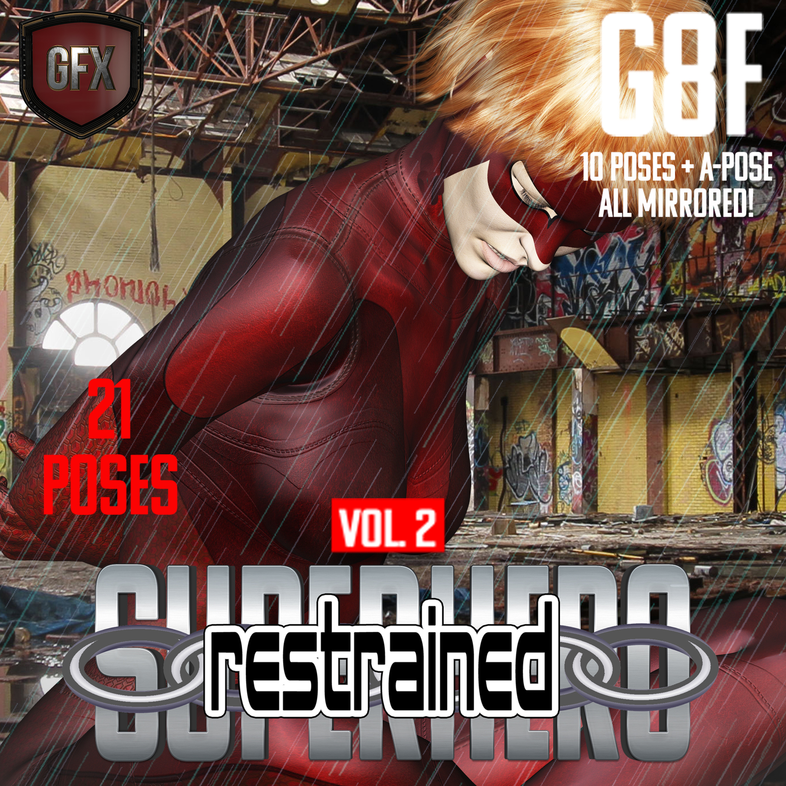 SuperHero Restrained for G8F Volume 2 by GriffinFX