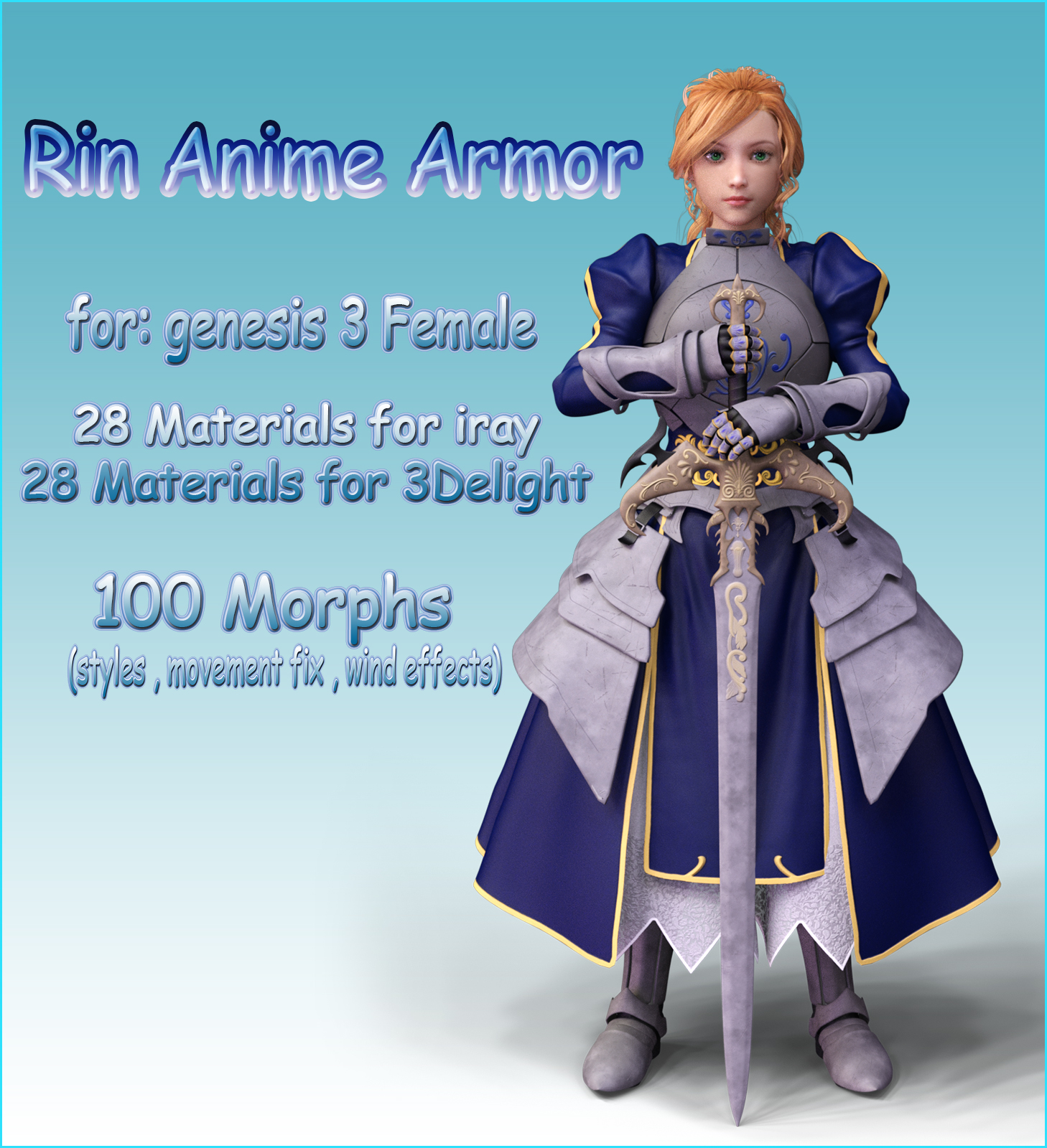 Rin Anime Armor for G3F