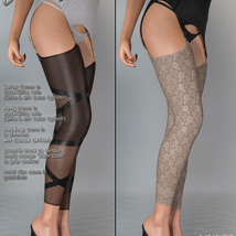 Vanity for Wet Look Stockings Genesis 8 Females image 5