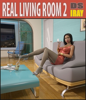 Living Room 2 for Daz Studio 3D Models hameleon