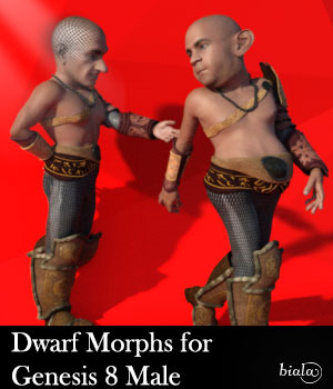 Dwarf Morphs For Genesis 8 Male 3D Figure Assets biala