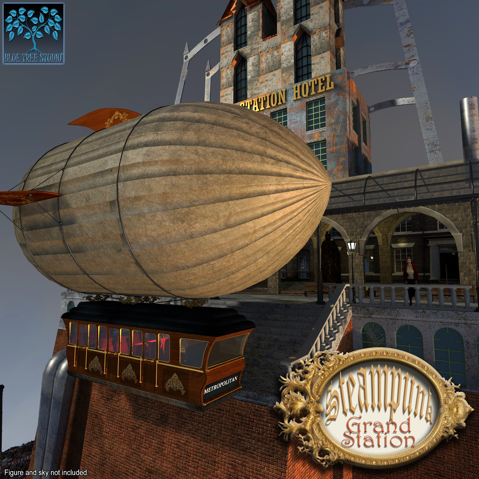 Steampunk Grand Station for Poser