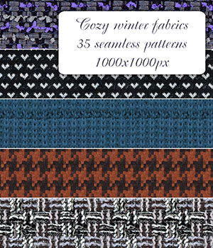 Cozy_Winter_Fabrics - Seamless patterns 2D Graphics Merchant Resources romawka