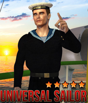 Universal Sailor for M4 - Base Pack 3D Figure Assets Cybertenko