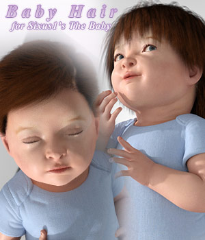 Baby Hair for Sixus1  The Baby 3D Figure Assets sixus1