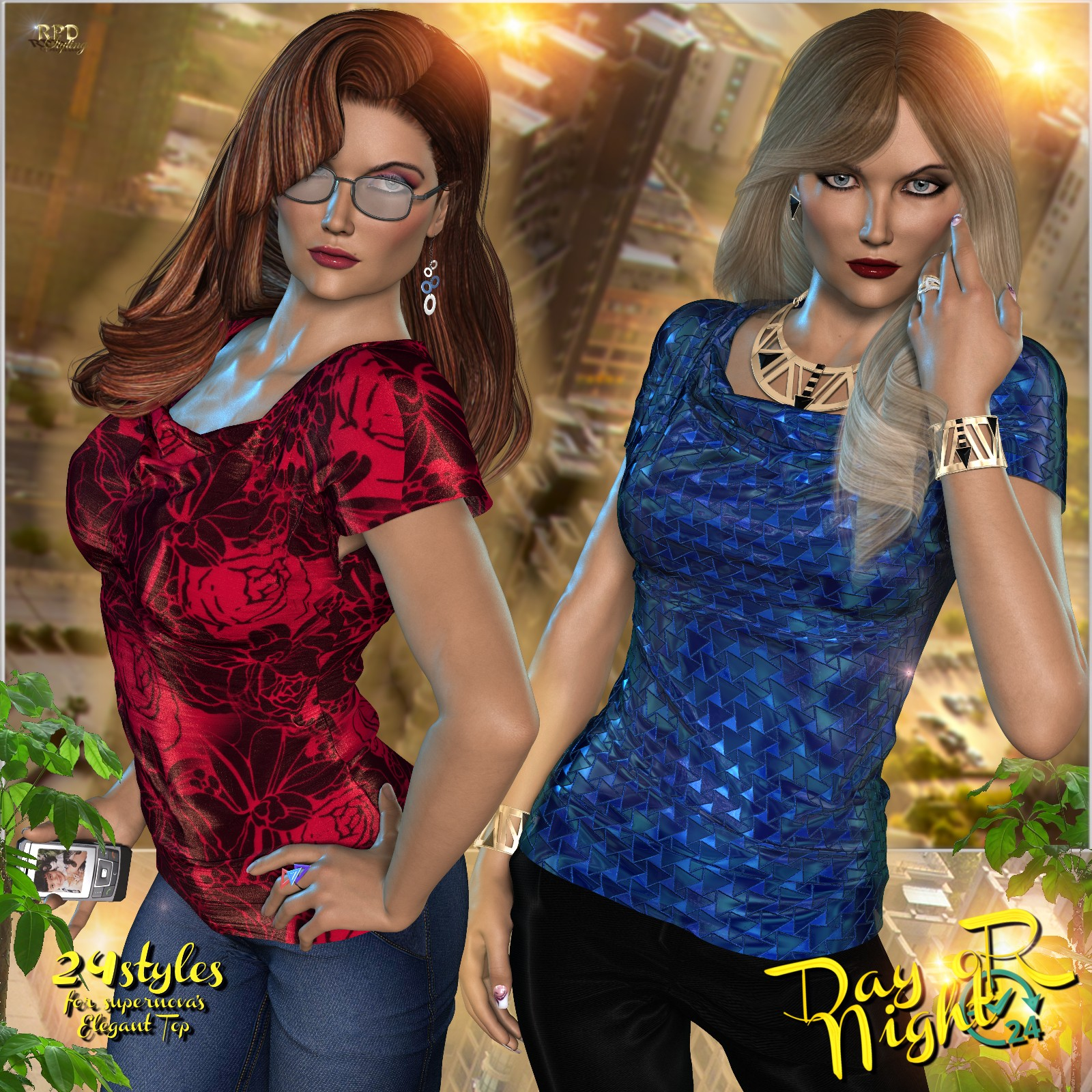 Elegant Top - Day & Night - Poser