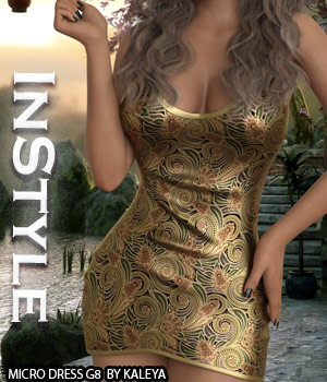 InStyle - Micro Dress G8 3D Figure Assets -Valkyrie-