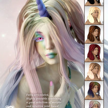 Sixus1s Classic Layers Hair for G3F & G8F image 1