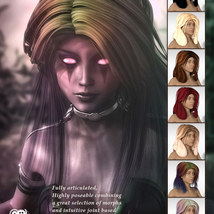 Sixus1s Classic Layers Hair for G3F & G8F image 3