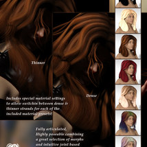 Sixus1s Classic Layers Hair for G3F & G8F image 4
