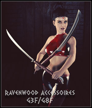 Ravenwood Accessoires G3F and G8F 3D Figure Assets 3D Models SynfulMindz
