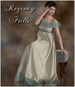 dForce - Regency Frills for G8F 3D Figure Assets Lully