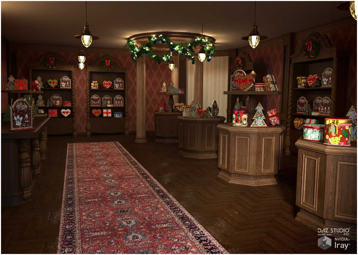 Victorian Gift Shop for Poser and DS 3D Models RPublishing