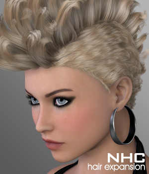 NHC Expansion : Bika Hair 3D Figure Assets digiPixel
