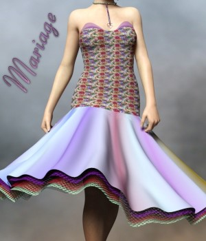Mariage Dress for G3F 3D Figure Assets chasmata