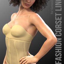 X-Fashion Corset Lingerie for Genesis 8 Females image 1