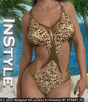InStyle - X-Fashion Sport Bodysuit for Genesis 8 Females 3D Figure Assets -Valkyrie-