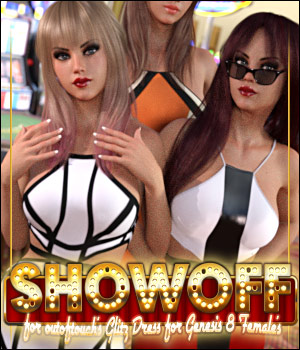Showoff for Glitz Dress 3D Figure Assets ShanasSoulmate