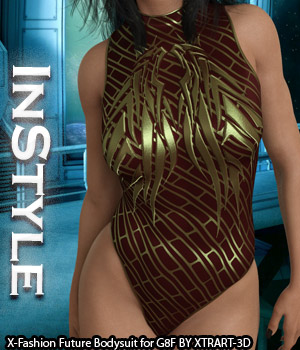 InStyle - X-Fashion Future Bodysuit for Genesis 8 Females 3D Figure Assets -Valkyrie-