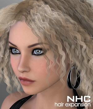 NHC Expansion : Amie Hair 3D Figure Assets DIGIpixel