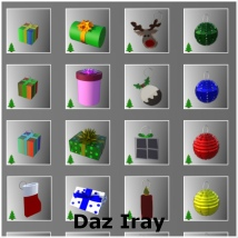 Countdown to Christmas Props for Poser & Daz image 2