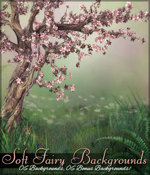 Soft Fairy Background Mini Pack 2D Graphics Sveva