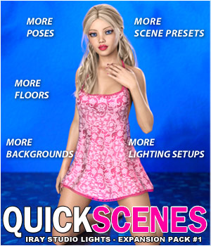 Quick Scenes - Expansion Pack 1 for Iray Studio Lights 3D Lighting : Cameras 3D Models Foxy-3D