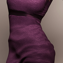 Long Sleeve Lace Dress for Genesis 8 Female(s) image 1