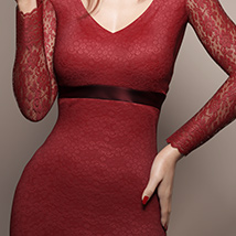 Long Sleeve Lace Dress for Genesis 8 Female(s) image 2