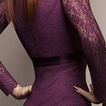 Long Sleeve Lace Dress for Genesis 8 Female(s) image 3