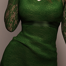 Long Sleeve Lace Dress for Genesis 8 Female(s) image 5