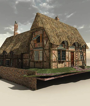 English Cottage One for Vue 9+ 3D Models London224