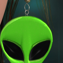 Alien Wear Earrings_V4_Poser image 2