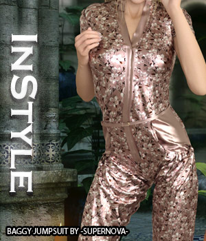 InStyle - Baggy Jumpsuit 3D Figure Assets -Valkyrie-